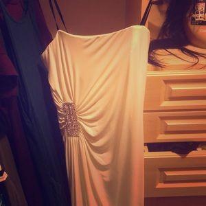 Never been worn, winter white evening dress